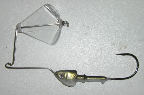 Spinnerbait converted to buzzbait