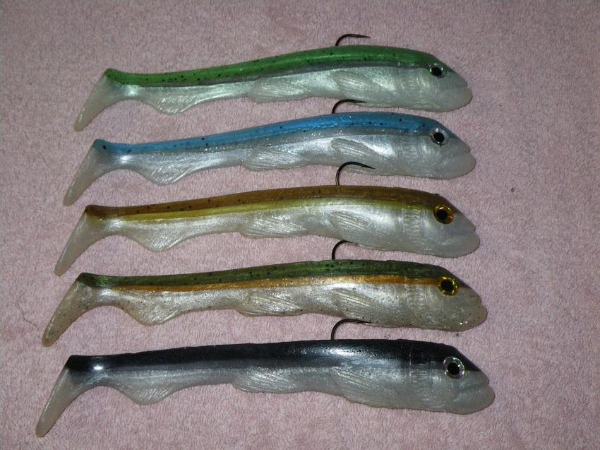 "9 1/4"" bait in some saltwater colors"