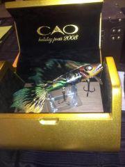 """CAO Cigar Bait- Walleye""-Tribal paint scheme-display"