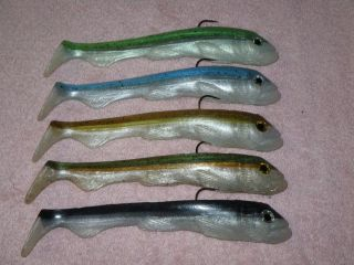 """9 1/4"""" bait in some saltwater colors"""