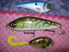 And with some other lures I made