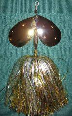 Double #10 Colorado - Gold / Silver Bucktail