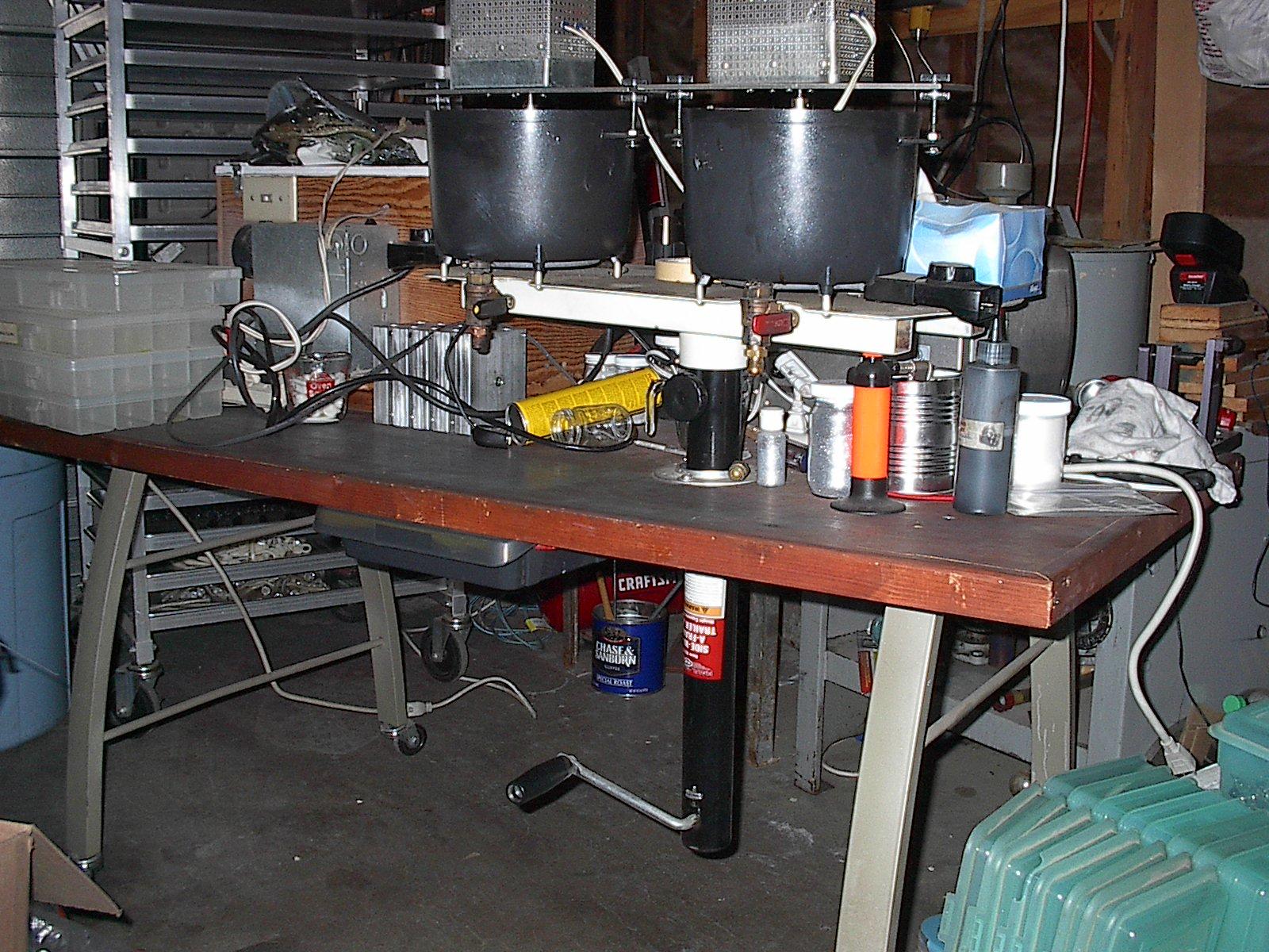 Poring set-up