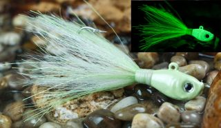 B71Lures Jigs 0015 mint green glow candy