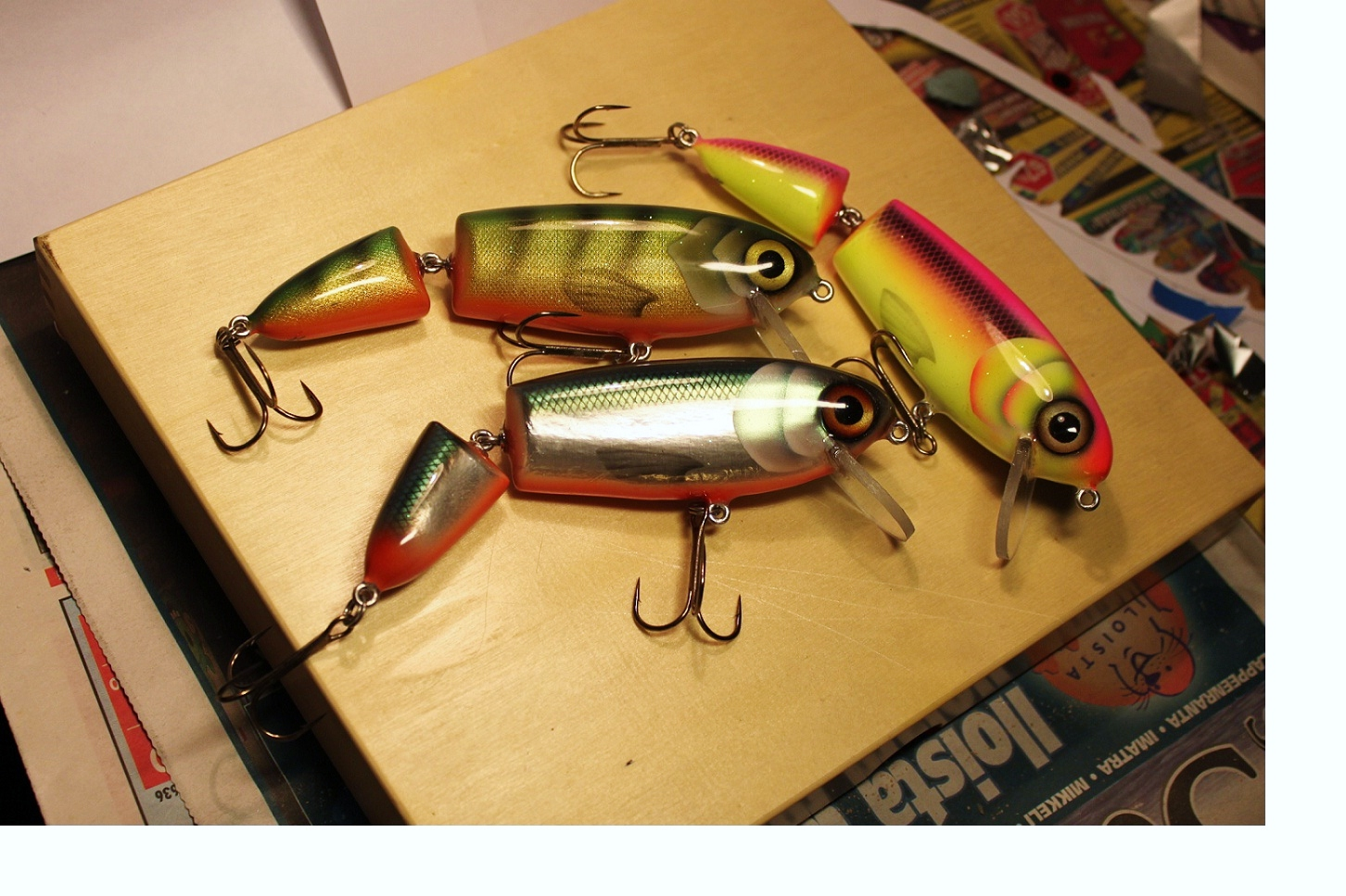 jointed crank baits