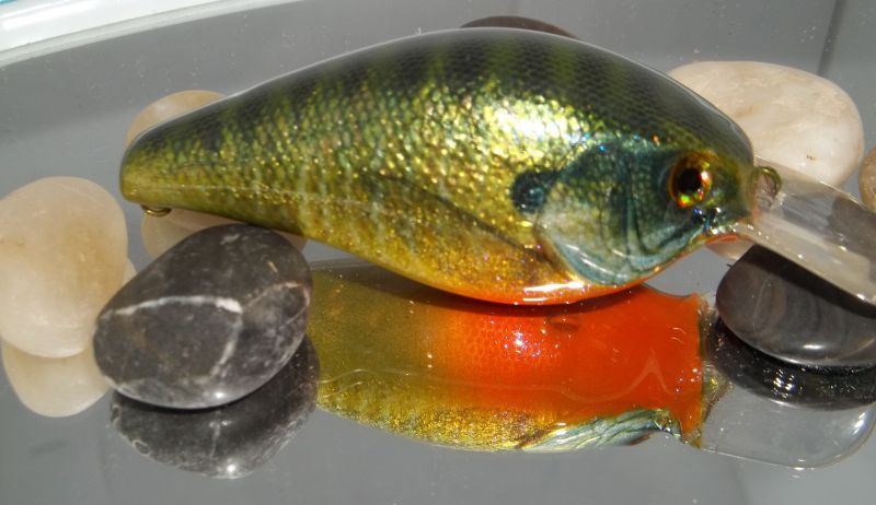 Foiled Photofinish Bluegill LC Fat CB MR