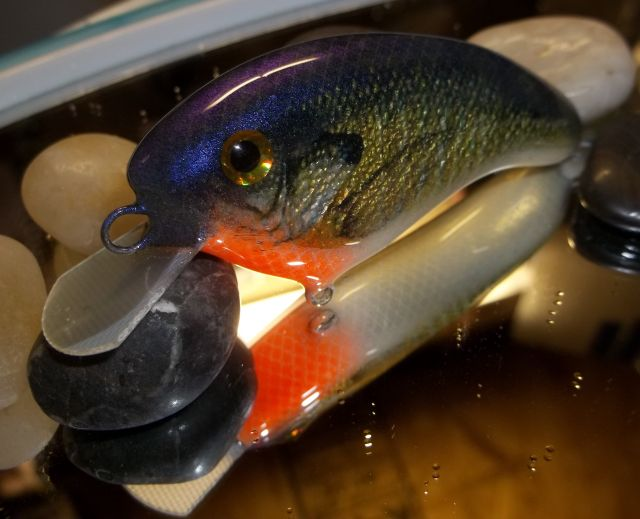 Custom Flatside Balsa Bluegill ( Photo Finished)