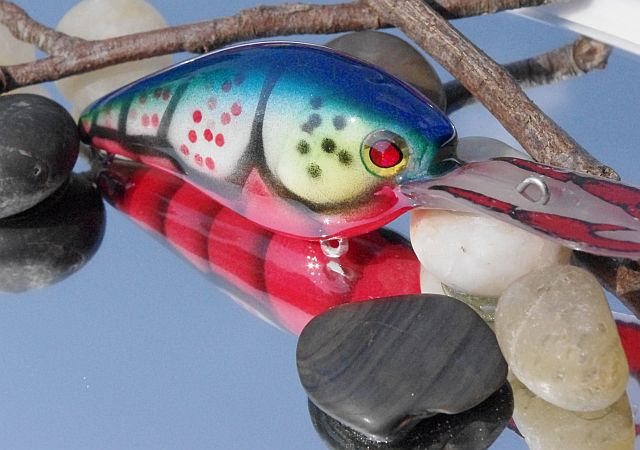 Electric Blue Craw Crackle Craw