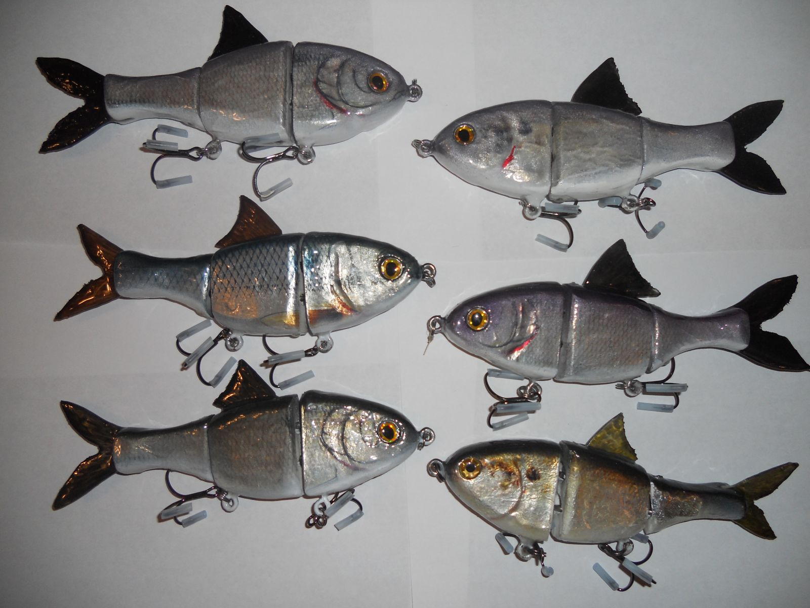 Some 7 Inch Swimbaits I have made