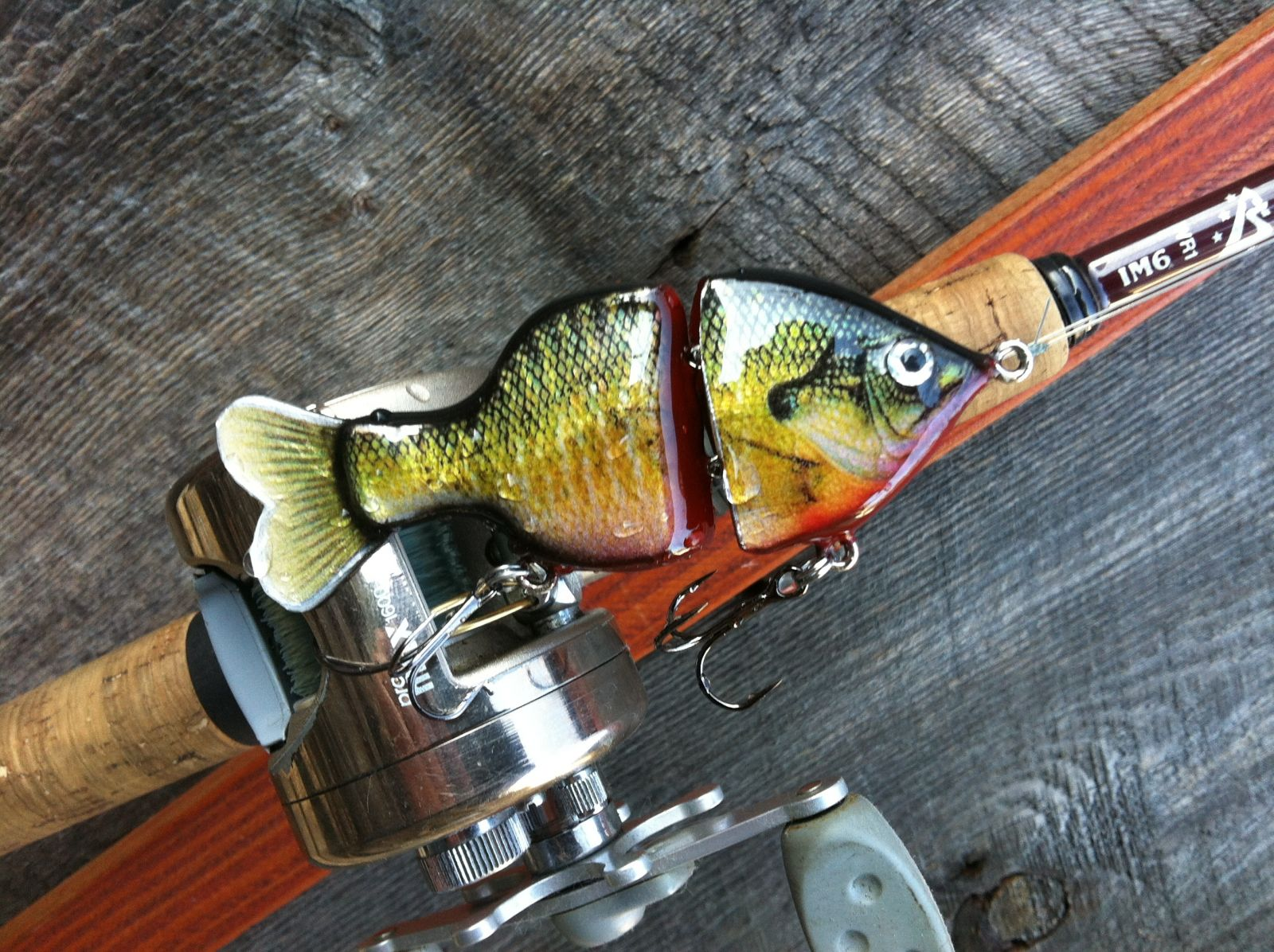 "4"" Basswood Bleeding Bluegill"