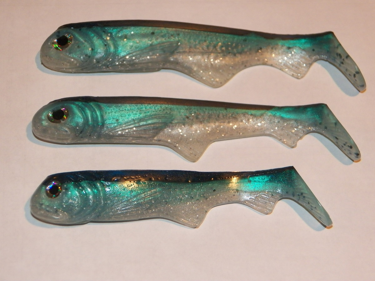 3 New Weedless baits.