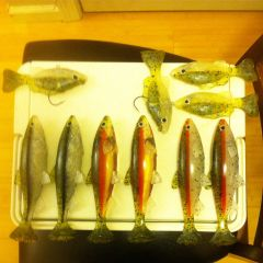 "7"" line through, 4.5 top hook and line through gill swimbaits"