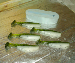 Watermelon white swim baits