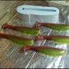 Pumpkin chartreuse swim baits