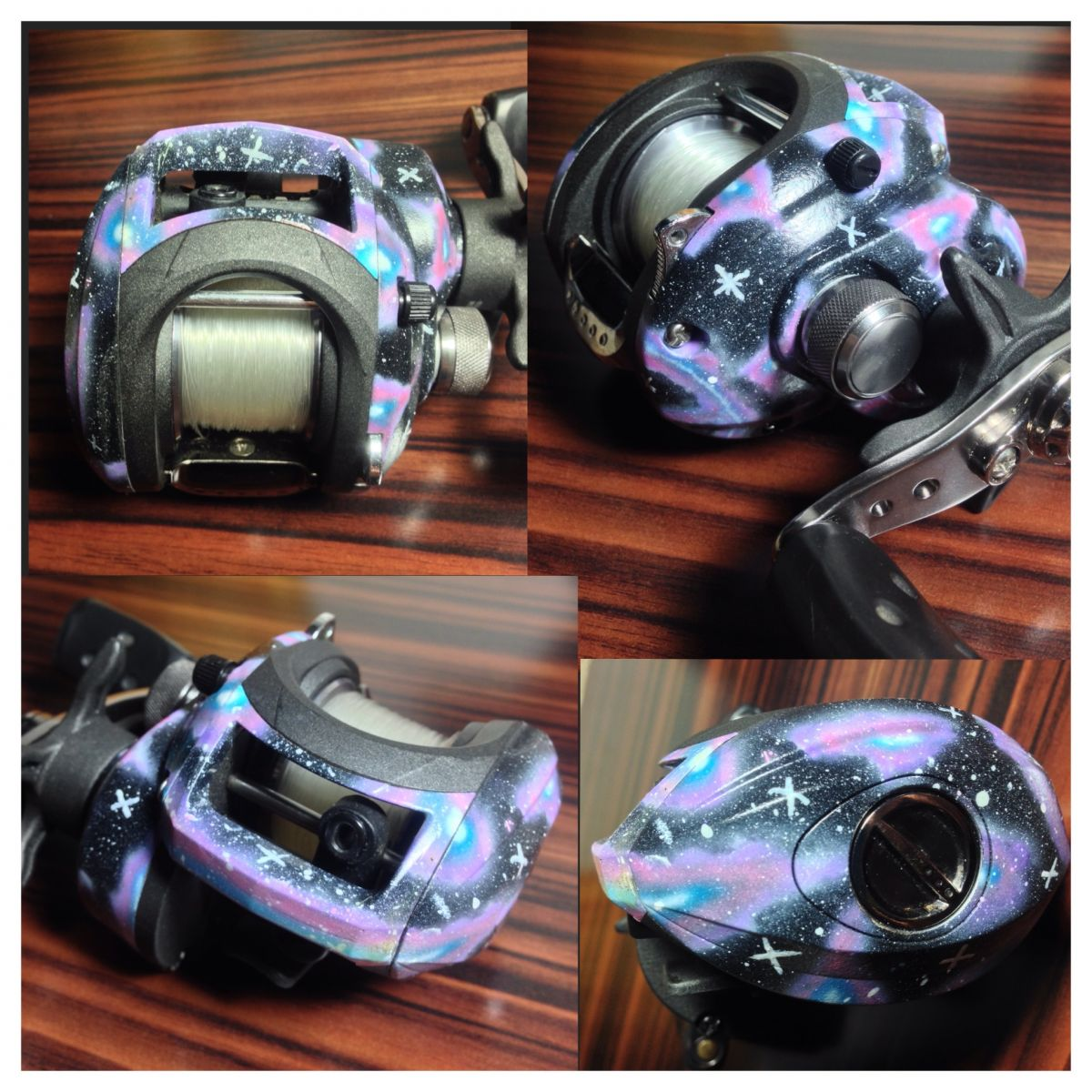 Custom Galaxy Silver Max Reel