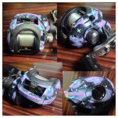 Custom Galaxy Silver Max Reel