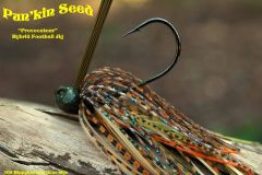 "Old Hippy Custom Bass Jigs - ""Provocateur"" Hybrid Football Jig - Pun'kin Seed"