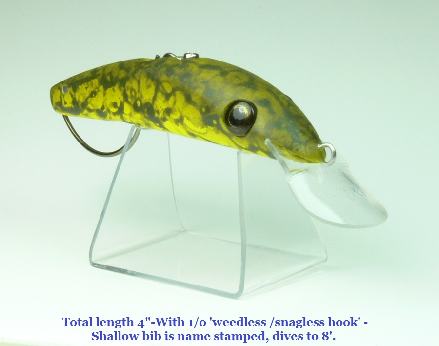 Timber lure with Treeless / Snagless Hook