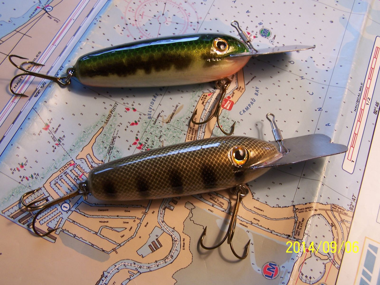 Large Bass Baits  for Muskie