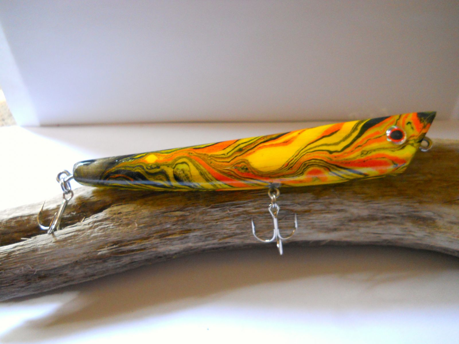 6 inch marbled popper