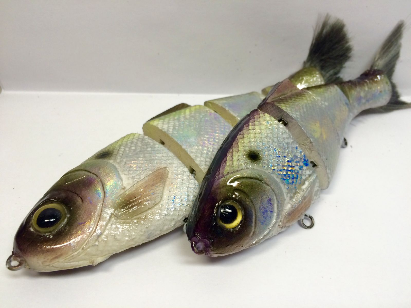 Custom Bull Shad Using Holographic Foil