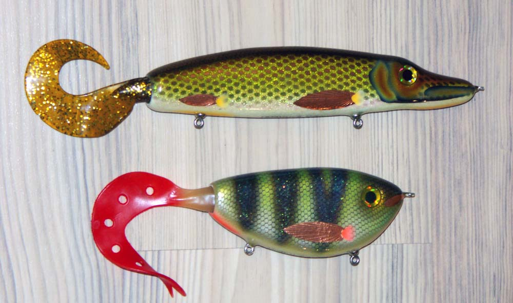 Tailed jerkbaits for pikes