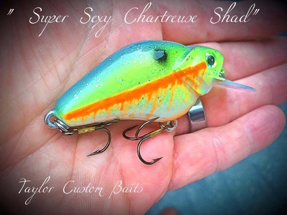 """Super Sexy Chartreuse Shad"" color"