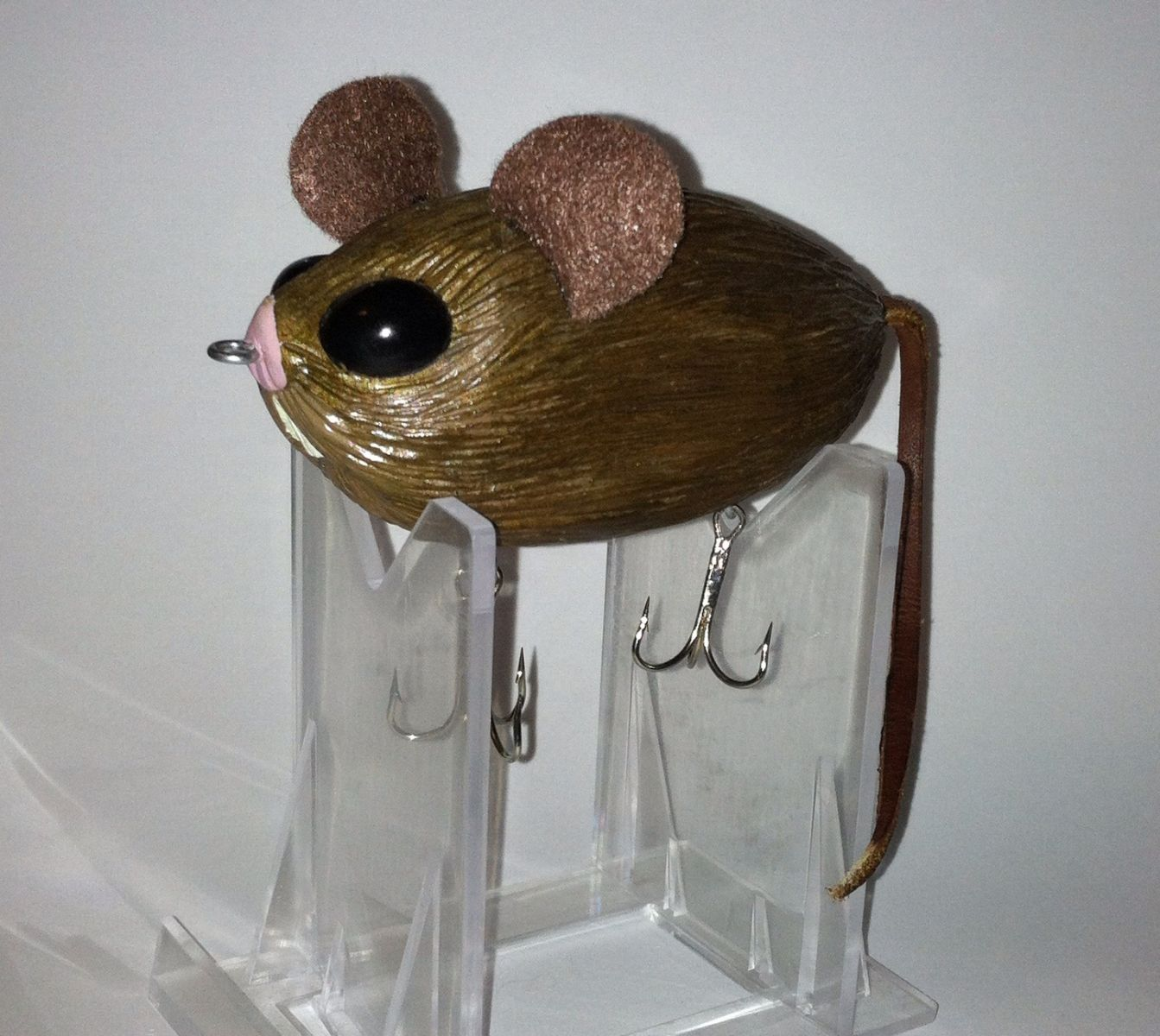 Hand Carved Mouse Top Water Bait