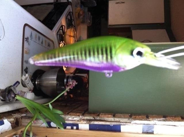 green And purple crank