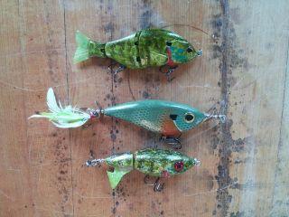 three bluegill baits