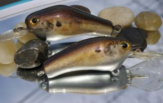 Two Old Vintage Wooden Poes Crankbaits!!