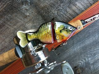 Bleeding bluegill basswood swimbait