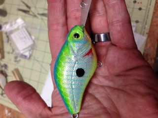 """Slounch Slayer DD shown in """"Foiled Citrus Shad"""""""
