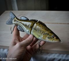 hand painted largemouth bass