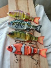 some new colors for my perch swimbait model
