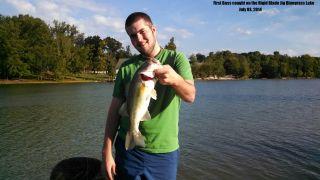 First Bass Caught on the Rigid Blade Jig