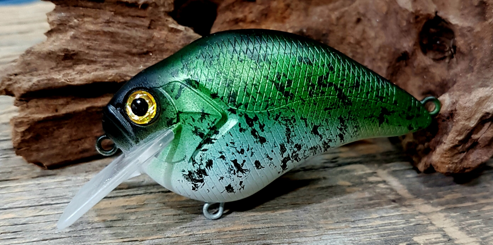 Black crappie inspired.