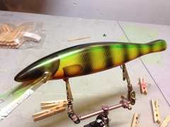 "12"" fire perch musky lure"