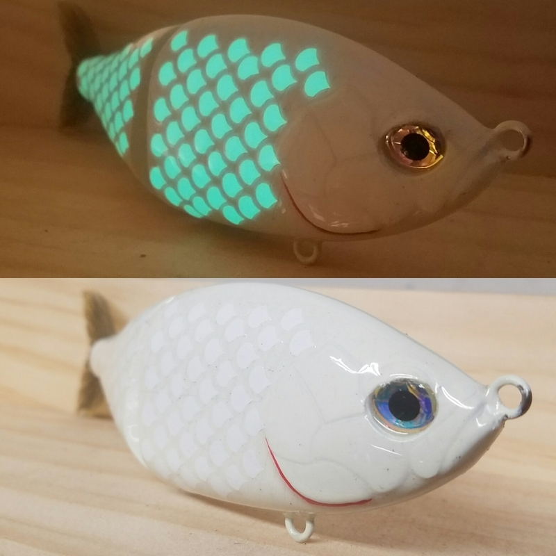 Bone Glow Swimbait Best Custom Painted Hardbait