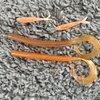 orange silver-fish (jacobs molds) and motoroil/orange laminate basstackle 144