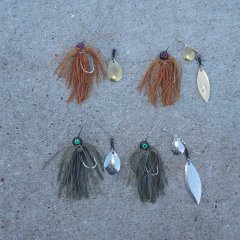 Ball head spinnerbaits